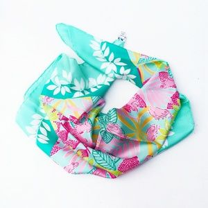 Lilly Pulitzer Giant Hand-Rolled Silk Scarf-New!